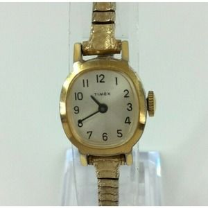 Vintage Timex Ladies Watch Gold Tone Stretch Band